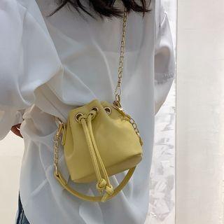 Echinops - Faux Leather Bucket Bag