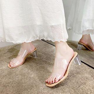 Novice(ノバイス) - High Heel Slide Sandals