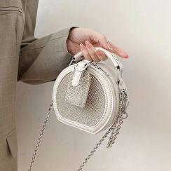 FAYLE - Rhinestone Round Crossbody Bag