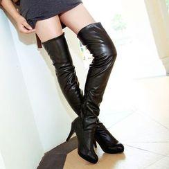 YOUIN - High-Heel Over-The-Knee Boots