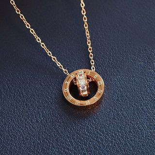 maxine(マクシーン) - Rhinestone Roman Numeral Necklace