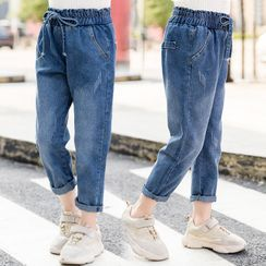 PAM(パム) - Girls High Waist Drawstring Jeans