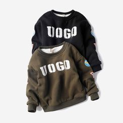 Happy Go Lucky - Kids Lettering Pullover