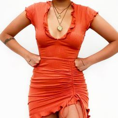 Femme Cradle - Cap-Sleeve Mini Sheath Dress