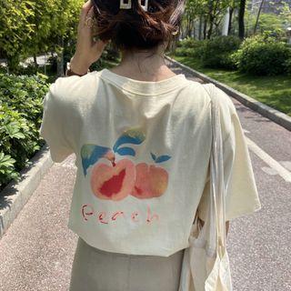 Closette - 桃子-印花短袖圓領T裇
