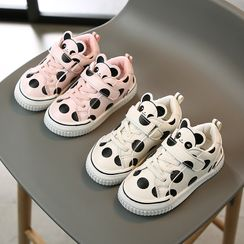 Luco - Kids Panda Print Dotted Sneakers