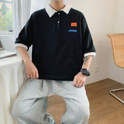 Freehop - 短袖貼布繡馬球衫