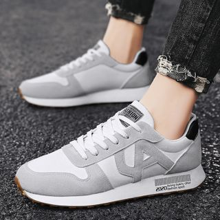 BELLOCK - Faux Leather & Canvas Athletic Sneakers