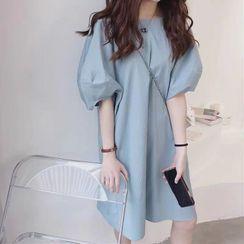 Phover - 泡泡袖直身連衣裙