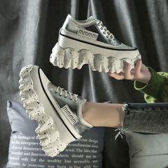 Sleeko - 厚底粗跟休閒鞋