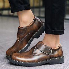 Auxen - 仿皮魔术贴鞋