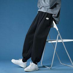 Ninine - Lettering Knit Sweatpants