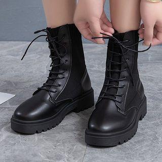 Edda - Platform Lace-Up Short Boots