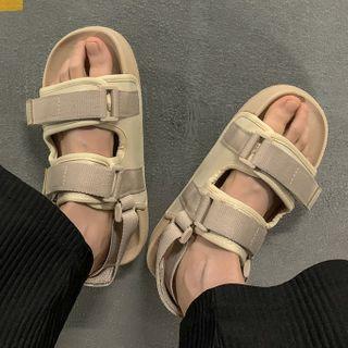 YERGO - 布艺厚底凉鞋