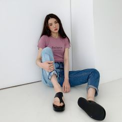 PPGIRL(PPガール) - Washed Two Tone Jeans