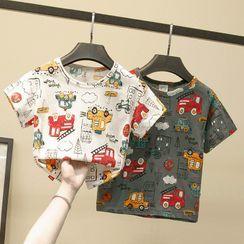Ouron - Kids Car Print Short-Sleeve T-Shirt