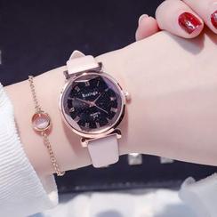 Tacka Watches - 套裝: 星空帶式手錶 + 三角手鐲
