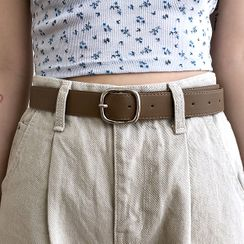 icecream12 - Square-Buckle Faux-Leather Belt