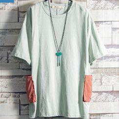 Soinku - Elbow-Sleeve Pocket T-Shirt