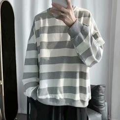 Wescosso - 條紋長袖襯衫