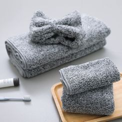 Connie Queenie - 竹炭乾髪毛巾 / 小方巾 / 浴巾 / 髪圈