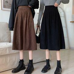 Finnegas - Corduroy Midi A-Line Skirt