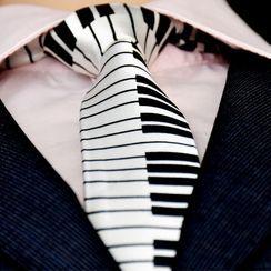 NINIRUSI - Piano Print Neck Tie