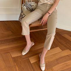 NANING9 - Straight-Cut Capri Pants