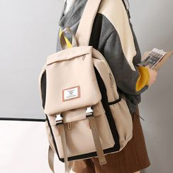 Bianka - Lettering Zip Backpack