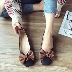 The Shoe House - Bow Tie Slip-on Flats
