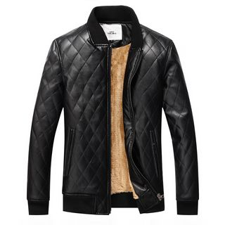 Carser - Quilted Faux Leather Jacket