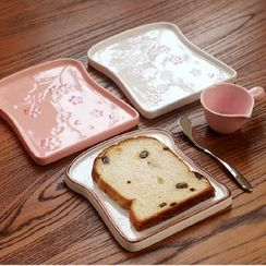 Beaucup - 压纹樱花陶瓷碟