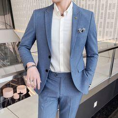 Bay Go Mall(ベイゴーモール) - Set: Plain Blazer + Dress Pants