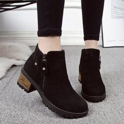 Shoesun - Chunky-Heel Ankle Boots