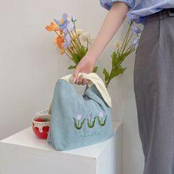 TangTangBags - Embroidered Corduroy Handbag