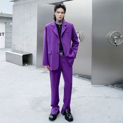 Bay Go Mall - Set: Plain Blazer + Dress Pants