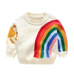 MOM Kiss - Baby Rainbow Print Sweater