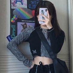 Bebop Bae - 插色長袖T裇 / 條紋運動褲