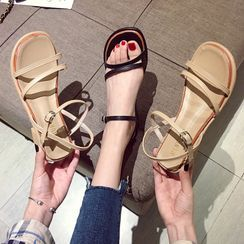NODO - Ankle-Strap Chunky-Heel Sandals