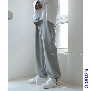 CooLook - Drawstring-Cuff Wide-Leg Sweatpants