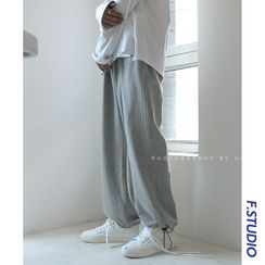 CooLook(クールック) - Drawstring-Cuff Wide-Leg Sweatpants