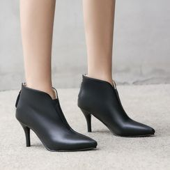 Pangmama - Pointed High Heel Ankle Boots