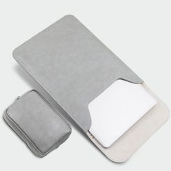 Simkim(シムキム) - Flap Laptop Sleeve / Zip Accessory Pouch / Set