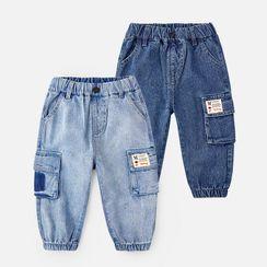 DEARIE - 小童工裝牛仔褲