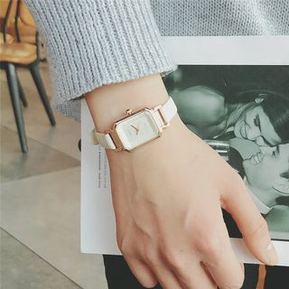 Moska - Rectangle Dial Strap Watch