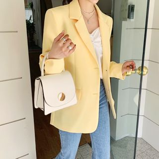 DEEPNY - Single-Breasted Blazer in 10 Colors