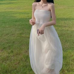 Yvoire - Strapless A-Line Evening Gown