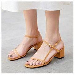 Comof - Chunky Heel Strappy Roman Sandals