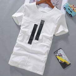 Hankatu - Short-Sleeve Lettering T-Shirt