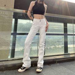 Genrovia - 高腰喇叭牛仔裤